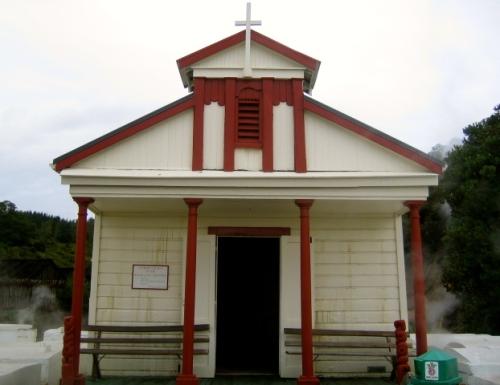 The church at Whakarewarewa, Rotorua, New Zealand
